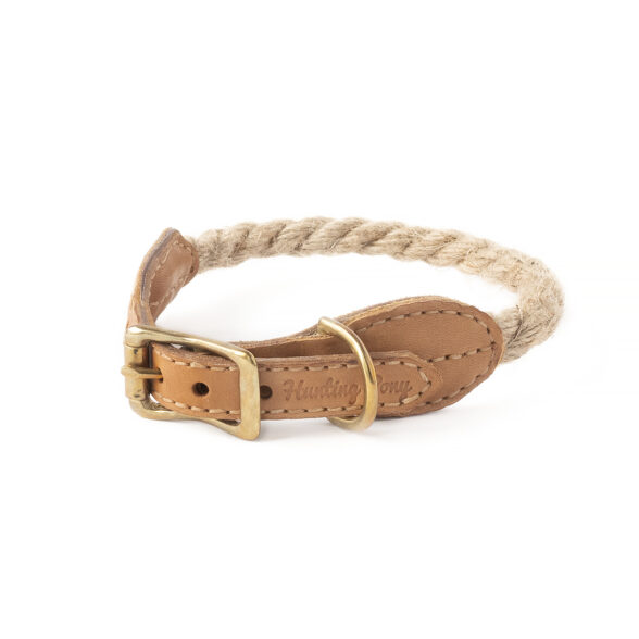 Country style rope dog collar
